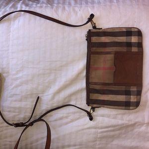 Burberry Plaid Crossbody Bag